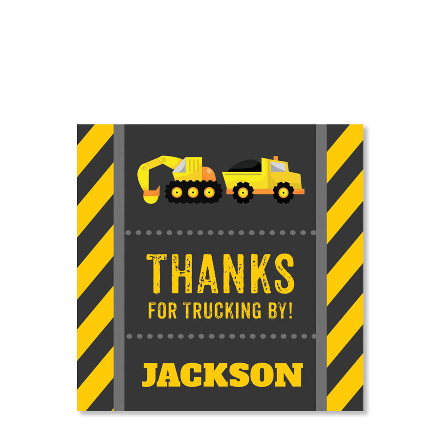 Construction Party Cardstock Favor Tags (Printed)