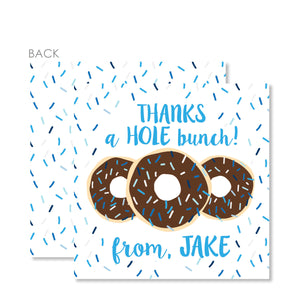 Donut Cardstock Favor Tags (Blue)