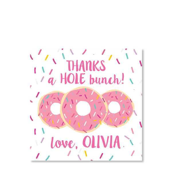 Donut Favor Tags (Pink)