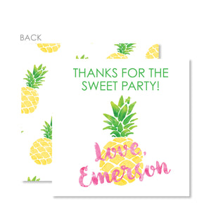Pineapple Party Favor Tags