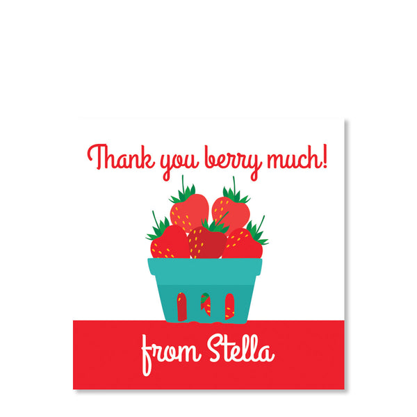 Strawberry Party Cardstock Favor Tags