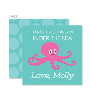 Under The Sea Favor Tags