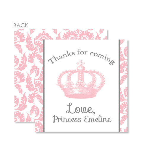 Vintage Princess Party Favor Tags