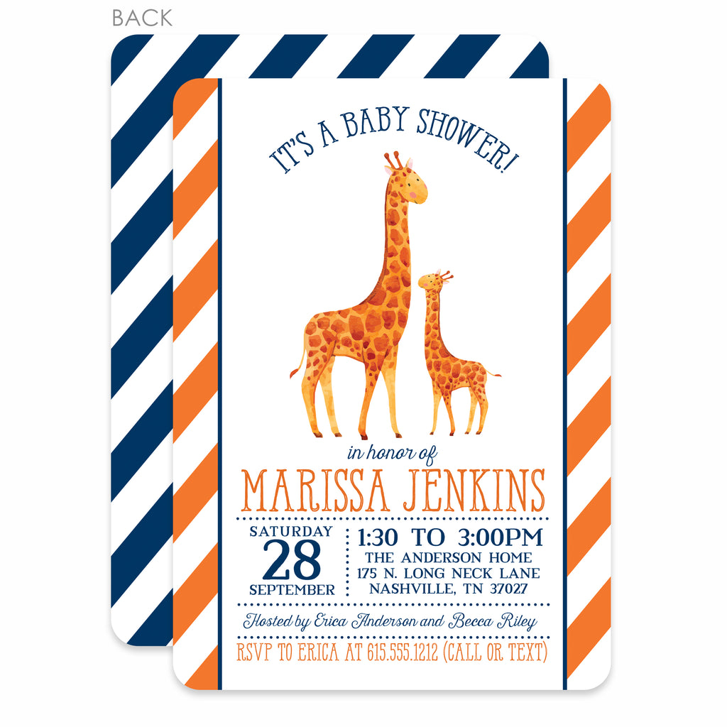 Giraffe Baby Shower Invitation | Pipsy.com | main image