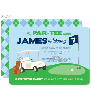 Golf Birthday Party Invitation | PIPSY.COM