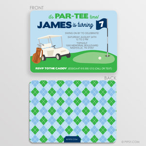Golf Birthday Invitations (DIY Printable)