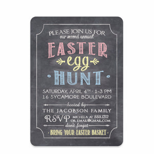 Chalkboard Invitation - Easter