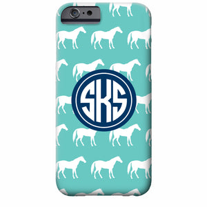 Horse Monogrammed iPhone Case | Swanky Press