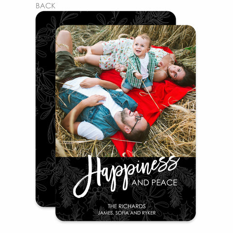 Happiness & Peace Holiday Photo Card | Swanky Press