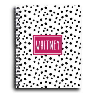 Happy Dots Personalized Spiral Notebook
