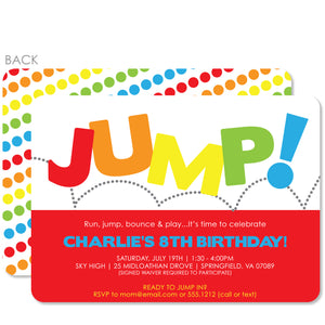 Jump Birthday Invitation | Swanky Press