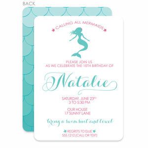 Mermaid Birthday Invitation | Swanky Press