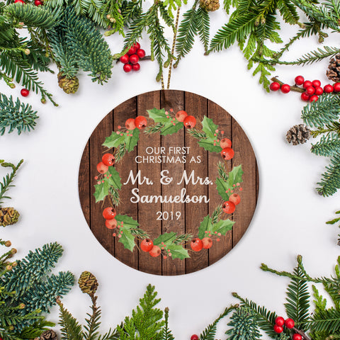 Mr. & Mrs. Just Married Keepsake Ornament | Pipsy.com