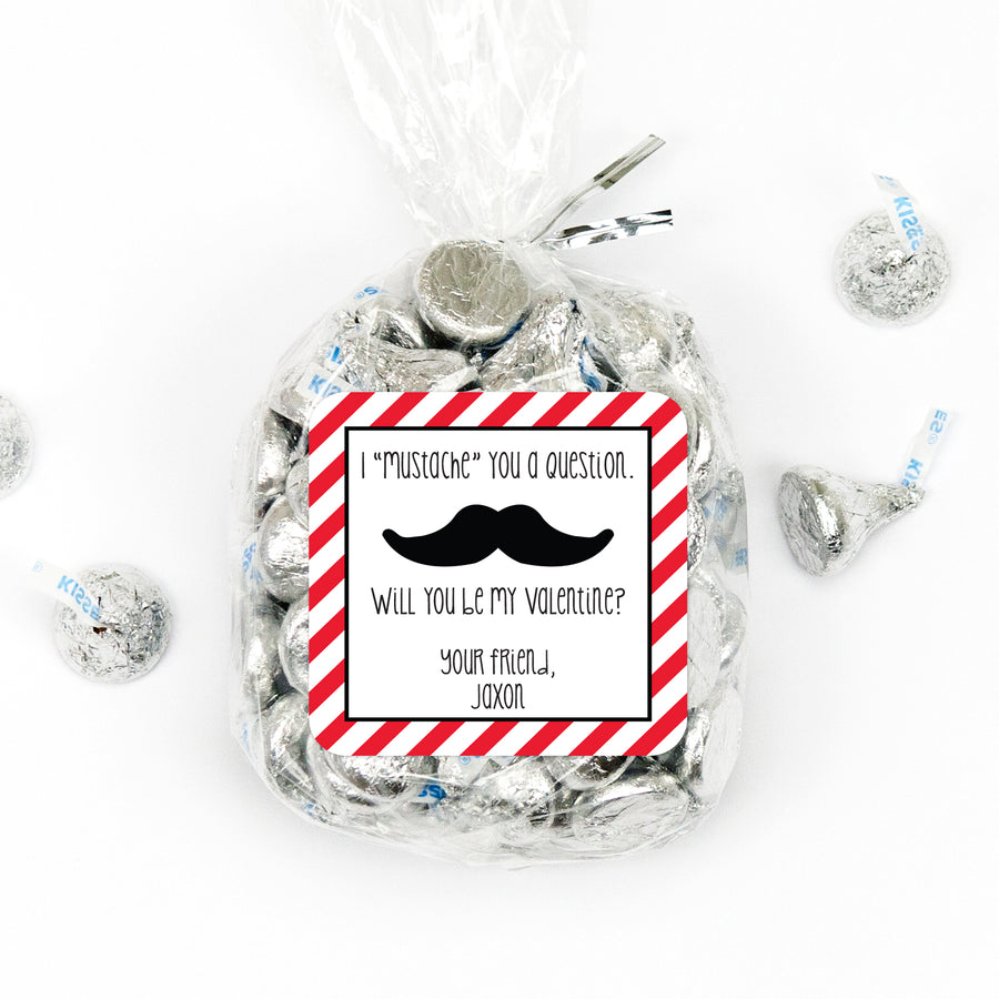 "Valentine's Day Stickers  - ""I Mustache you a question"""