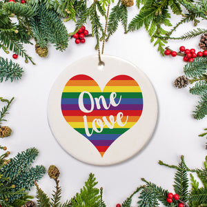 One Love Ornament | Love is Love | Pride | LGBTQ | Pipsy.com