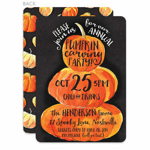 Pumpkin Carving Party Invitation | Halloween | PIPSY.COM