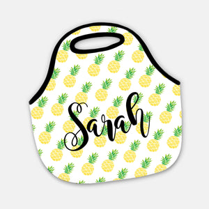 Swanky Press | Pineapple neoprene lunch tote | Pipsy