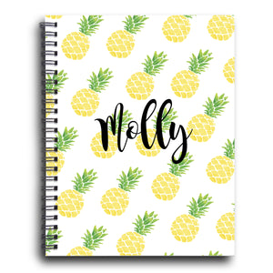 Pineapple Personalized Spiral Notebook