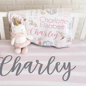 Keepsake Name Blanket | monogramed blanket | Pipsy.com
