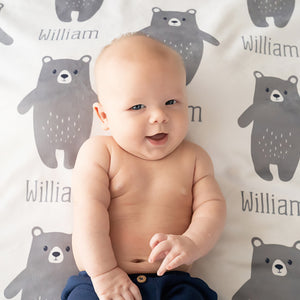 Bear Name Blanket | Stroller Blanket | Throw Blanket | Pipsy.com