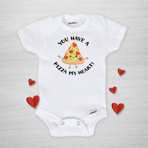 You have a PIZZA my heart Valentine's Day Gerber Onesie, Super soft print, Handmade in Nashville by pipsy