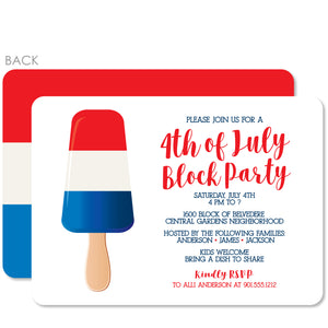 4th of July Invitation, Block Party or Barbecue, PIPSY.COM