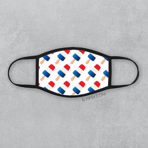 Red, white and blue popsicles! Patriotic pattern for your face mask | Pipsy.com