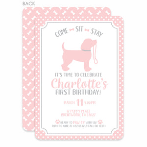 Puppy Party Birthday Invitations| Dog Birthday Party Invitations | Swanky Press
