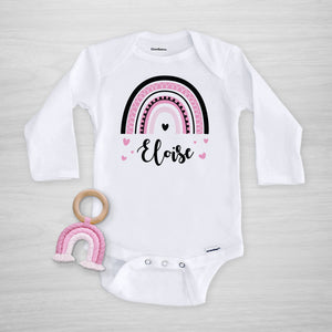 Bold Rainbow Personalized gerber onesie® from Pipsy.com, long sleeved