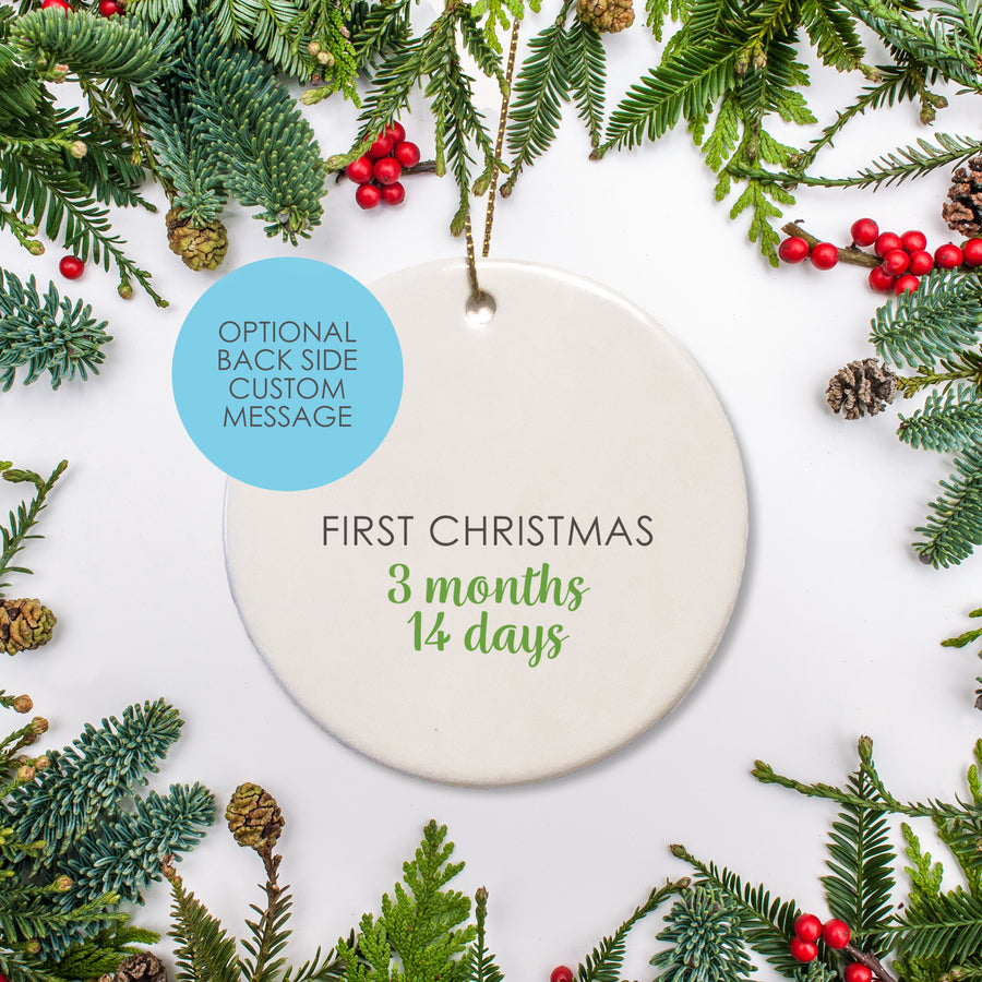 Sloth Ceramic Baby's first Christmas Ornament | Pipsy.com