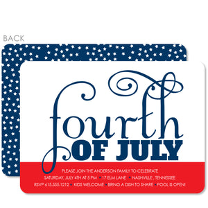 4TH OF JULY Party Invitation, Starry Sky, PIPSY.COM