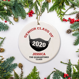 Senior Class of 2020 - Personalized ornament that features a face mask labeled with 2020 | Pipsy.com