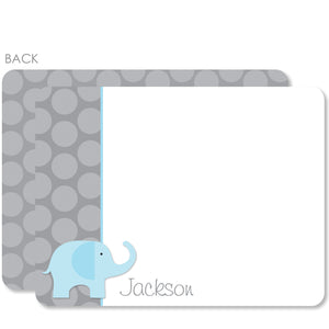 Blue Elephant Flat Notecards