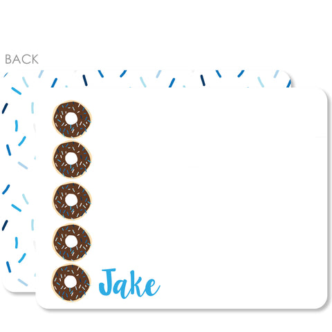 Donut Flat Notecards (Blue)