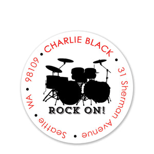 Rock On! Return Address Stickers