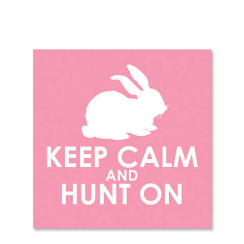 Keep Calm and Hunt On Easter Gift Sticker | Swanky Press | Square