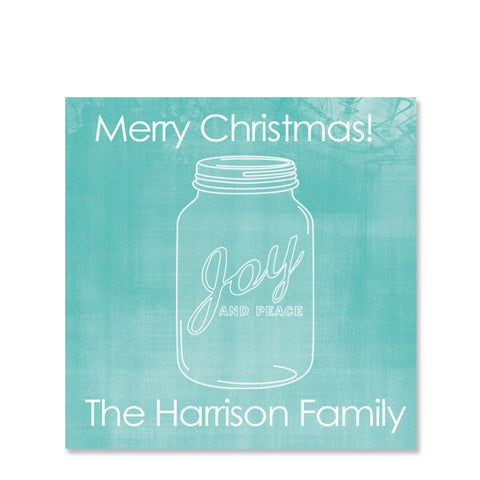 Mason Jar Gift Sticker | Swanky Press | Square