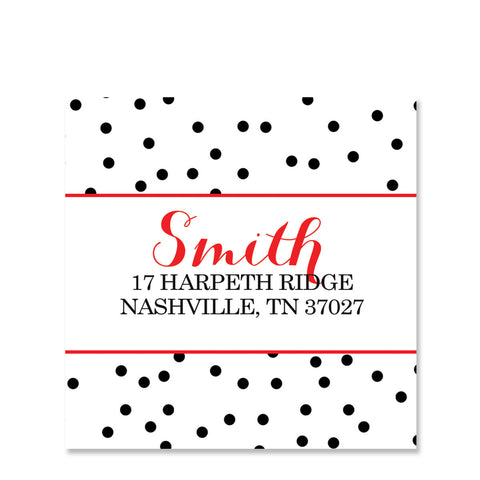 Mini Dots Return Address Sticker | Swanky Press | Square