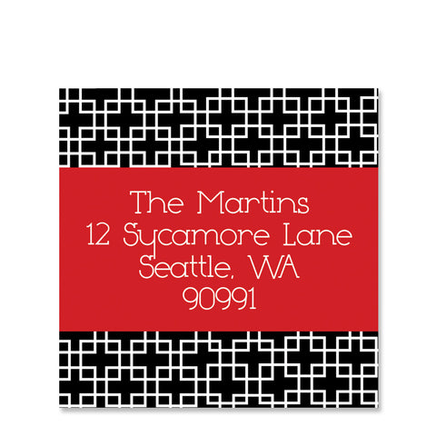 Modern Squares Return Address Sticker | Swanky Press | Square