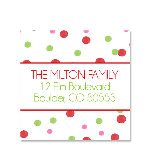 Oh What Fun Return Address Sticker | Swanky Press | Square