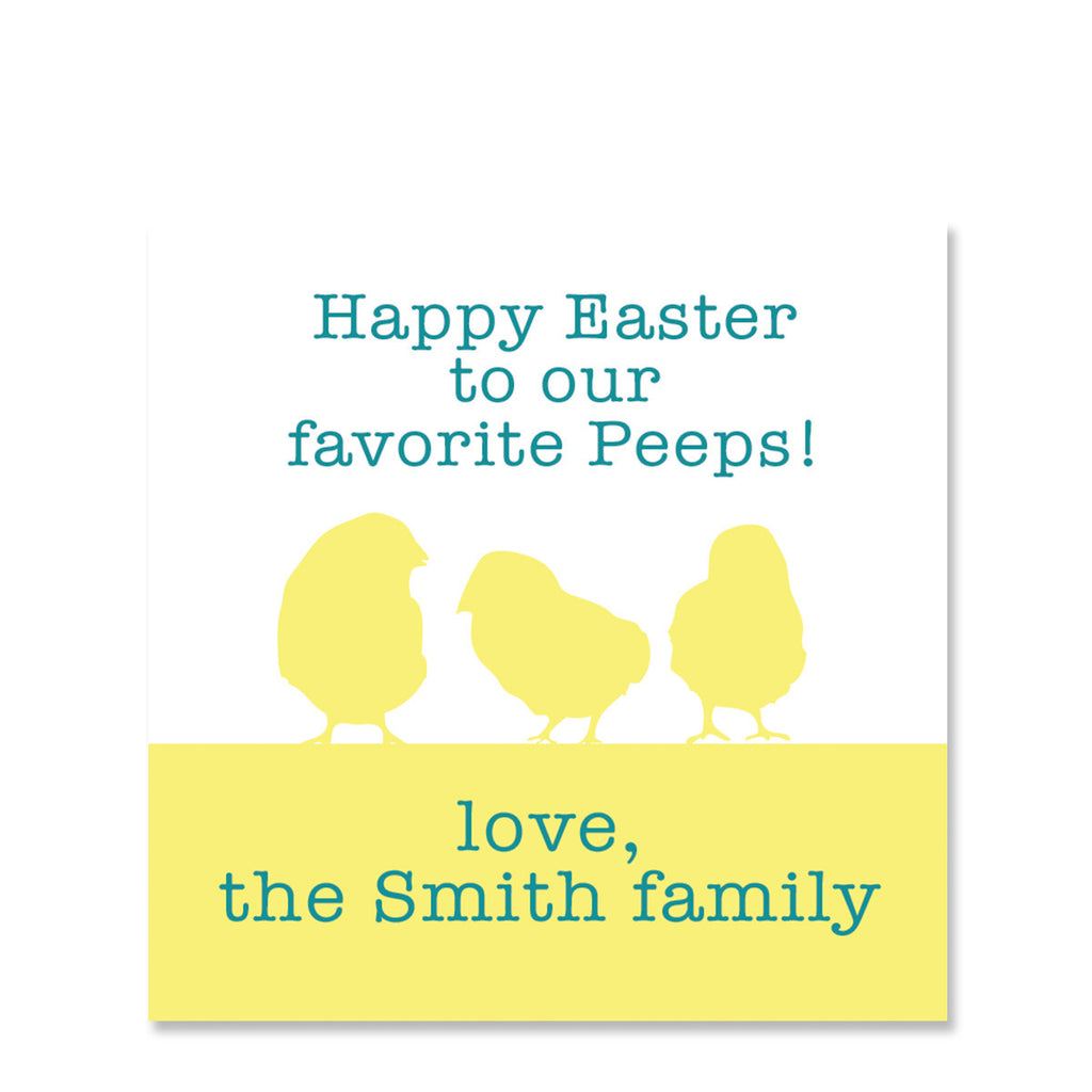 Favorite Peeps Easter Gift Sticker | Swanky Press | Square