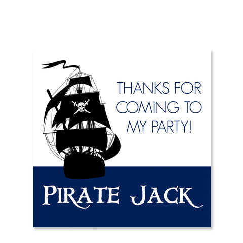 Pirate Ship Gift Sticker | Swanky Press | Square