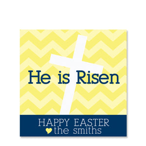 He Is Risen Easter Gift Sticker | Swanky Press | Square
