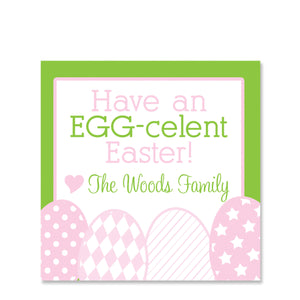 Row Of Eggs Easter Gift Sticker | Swanky Press | Square