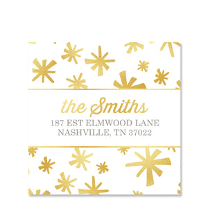 Sparkle Return Address Sticker | Swanky Press | Square