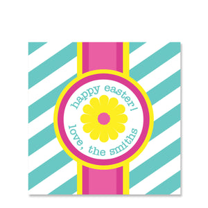 Striped Flower Gift Sticker | Swanky Press | Square