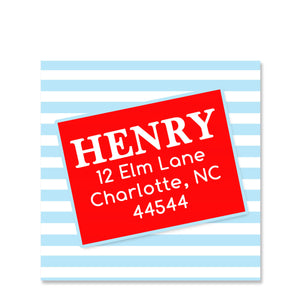 Tilting Box Return Address Sticker | Swanky Press | Square