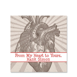 Anatomy Heart Valentine's Day Sticker | Swanky Press | Square