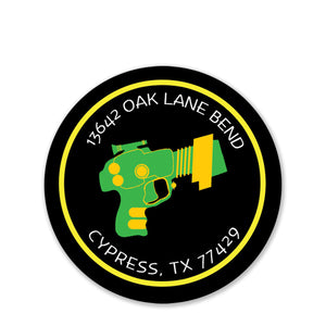 Laser Tag Return Address Stickers