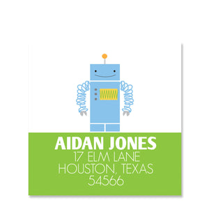 Robot Return Address Stickers